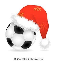 Santa cap over ball