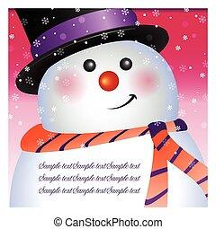 Santa card, vector