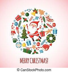 santa., cartão natal