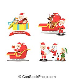 santa cartoon set 2