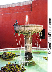 Santa Catalina fountain in Arequipa monastery - Santa...