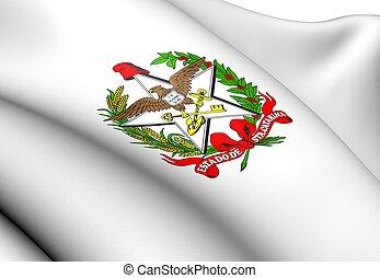 Santa Catarina Coat of Arms, Brazil. Close Up.