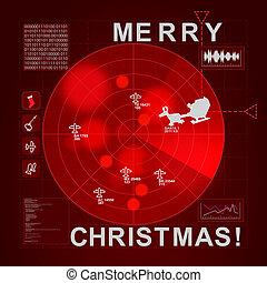 Santa caught on radar - it's christmas time - Santa caught...
