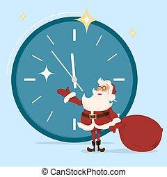 Santa character. Cartoon vector illustration.