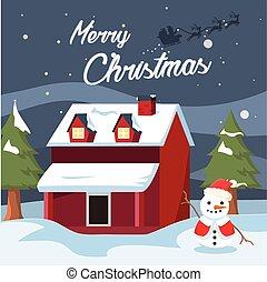 santa christmas banner illustration design