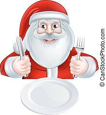 Santa Christmas Dinner Concept