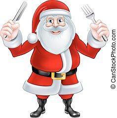 Santa Christmas Food