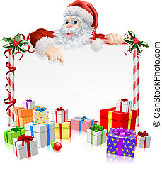 Santa Christmas Gifts Sign