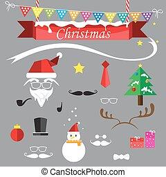 Santa christmas icons cartoon vector illustration