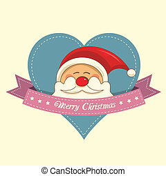 Santa christmas label