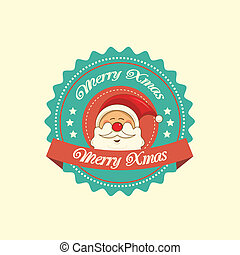 Santa christmas label