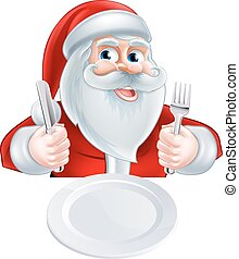 Santa Christmas Lunch Concept