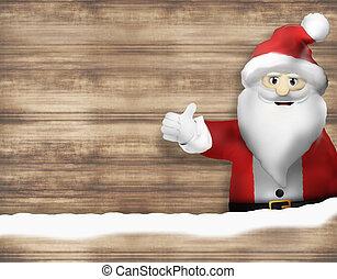 Santa Christmas Thumbs up