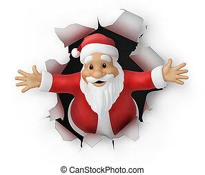 Santa Claus, 3d illustration