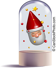 santa claus 3d toy gift character design
