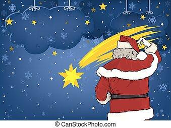 Santa Claus and Christmas Star