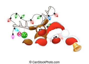 Santa Claus and deer 3