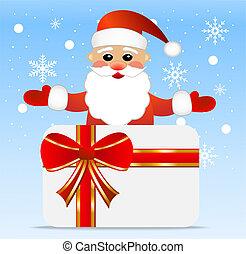 Santa claus and greeting-card