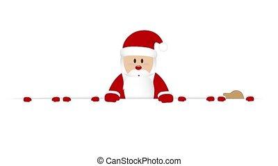 santa claus and his helper gnome christmas cartoon...
