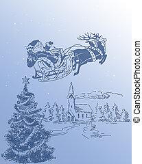 Santa Claus and his Reindeer 2