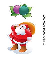 Santa Claus and some Christmas deco