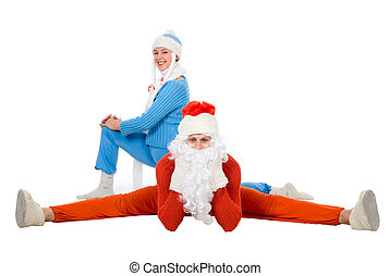 Santa Claus and the Snow Maiden of yoga.