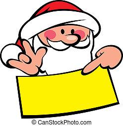 santa claus and wish list