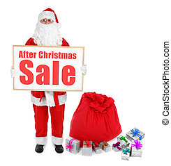 Santa claus and  with After Christmas Sale inscription