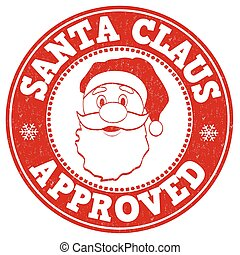 Santa Claus approved stamp