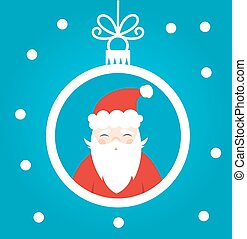 Santa Claus ball ornament