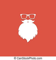 Santa Claus beard and glasses