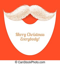 Santa Claus beard and mustache