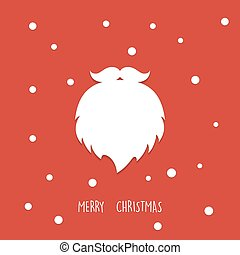 Santa Claus beard. Christmas background