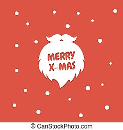 Santa Claus beard silhouette