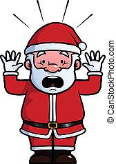 Santa Claus being shocked