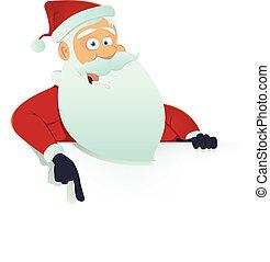 Santa Claus Blank Sign