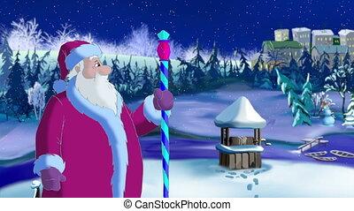Santa Claus Blowing Cold Wind - Santa Claus Blowing a Cold...