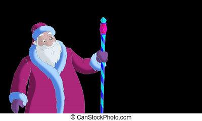 Santa Claus Blowing Snow Alpha