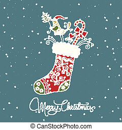 santa claus boot vintage christmas