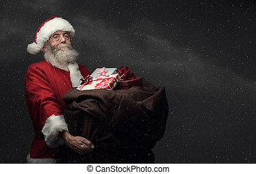 Santa Claus bringing gifts