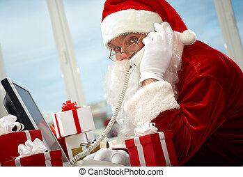 Santa Claus calling