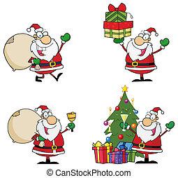 Santa Claus Cartoon Characters . Collection