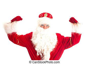 Santa Claus - champion. Isolated on white.