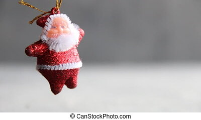 Santa Claus, Christmas background with copy space