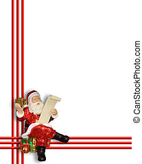 Santa Claus Christmas Border - Image and illustration...