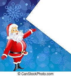 santa claus - christmas card