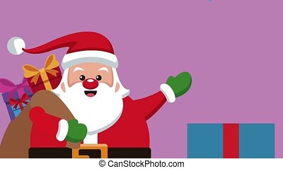 Santa claus christmas card HD animation
