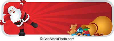 Santa Claus Christmas Cartoon Banne