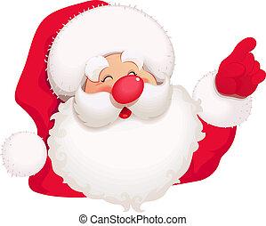Santa Claus. Christmas cartoon character.