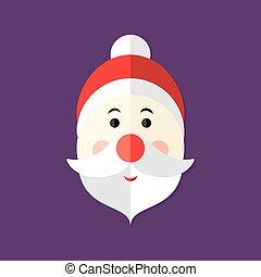 Santa Claus Christmas Flat Icon